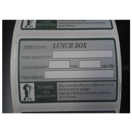 Lunch Box Label